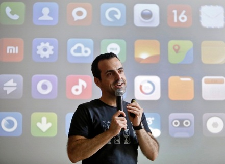 Xiaomi's International Vice President Hugo Barra speaks with the media during the launch of Mi phones in New Delhi