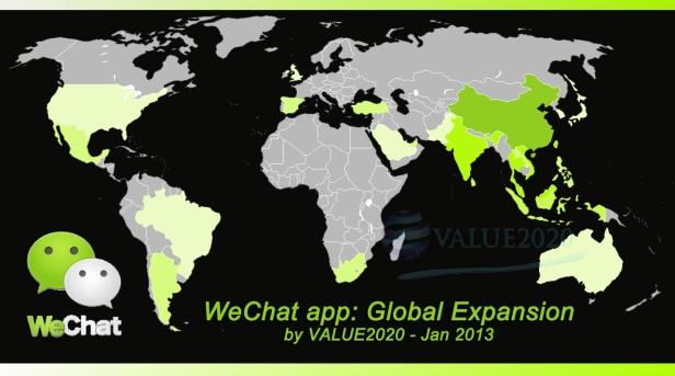 Ekpansi global aplikasi WeChat yang sangat masif.