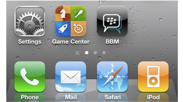 Aplikasi BBM untuk iPhone yang sudah dirilis.