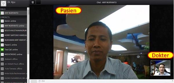 Salah satu layanan video call di situs UDoctor.com milik PT Telkom dimana pasien dapat berkonsultasi langsung dengan dokter jaga. Layanan digital health care atau tele-health diprediksi akan terus tumbuh.