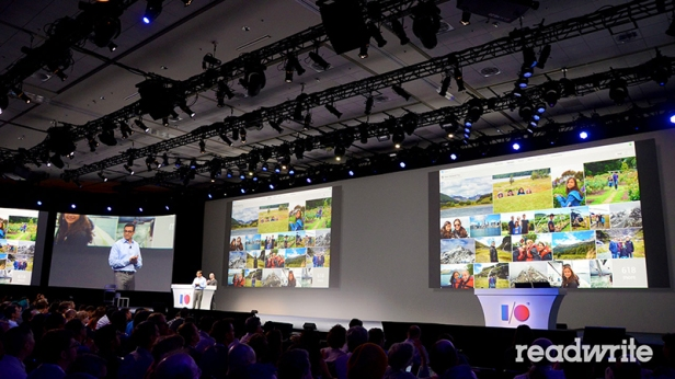 Suasana keynote Google I/O di San Francisco.