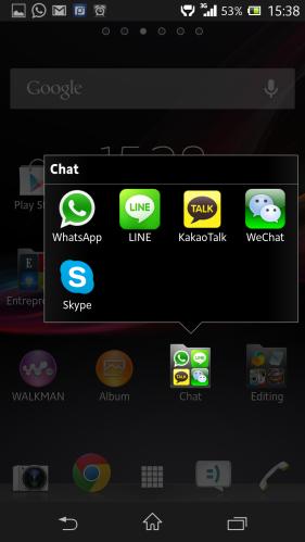 aplikasi mobile messenger di smartphone saya. lengkap!