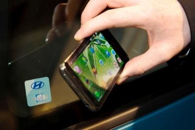 Teknologi Hyundai yang mampu mengaktifkan kendaraan lewat NFC di smartphone.