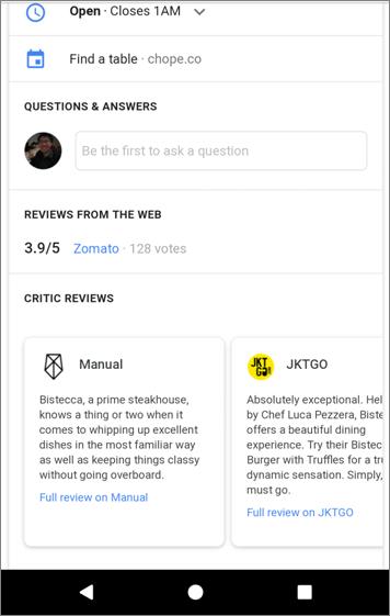 Google Maps - Ulasan Restoran