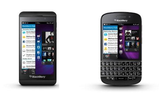BlackBerry Z10 dan Q10 terbaru dengan OS BB10. Z10 akan hadir Maret 2013 di Indonesia. Q10 menyusul sebulan setelahnya.