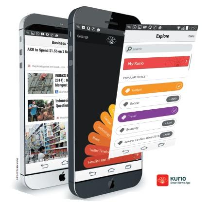 Kurio merupakan sebuah aplikasi bacaan buatan Indonesia yang memudahkan untuk eksplor, membaca, dan berbagi berita/informasi dengan mudah.