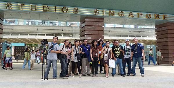 Rombongan media dan blogger dari Indonesia.