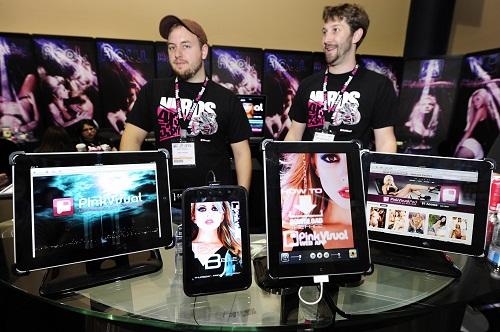 SAlah satu kegiatan di AVN Adult Entertainment Expo di Las Vegas, pada 2011.
